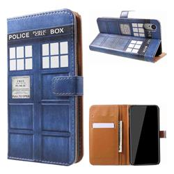 Police Box Leather Wallet Case for iPhone Xr (6.1 inch)