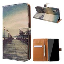 Retro Bridge Leather Wallet Case for iPhone Xr (6.1 inch)