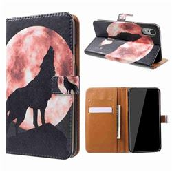 Moon Wolf Leather Wallet Case for iPhone Xr (6.1 inch)