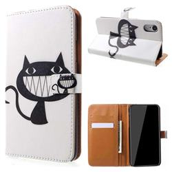 Proud Cat Leather Wallet Case for iPhone Xr (6.1 inch)