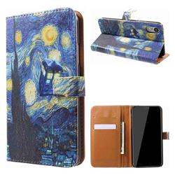 Lighthouse Painting Leather Wallet Case for iPhone Xr (6.1 inch)