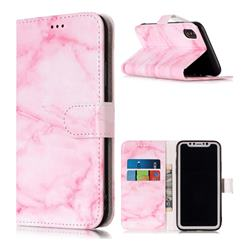 Pink Marble PU Leather Wallet Case for iPhone Xr (6.1 inch)