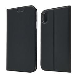 Ultra Slim Card Magnetic Automatic Suction Leather Wallet Case for iPhone Xr (6.1 inch) - Star Grey