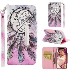 Angel Monternet Big Metal Buckle PU Leather Wallet Phone Case for iPhone Xr (6.1 inch)