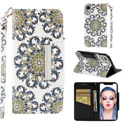 Phoenix Tail Big Metal Buckle PU Leather Wallet Phone Case for iPhone Xr (6.1 inch)