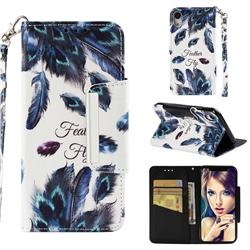 Peacock Feather Big Metal Buckle PU Leather Wallet Phone Case for iPhone Xr (6.1 inch)