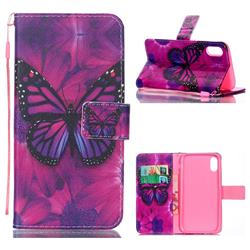Black Butterfly Leather Wallet Phone Case for iPhone Xr (6.1 inch)
