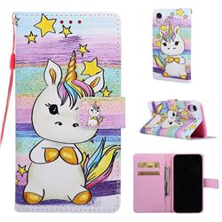 Spiral Pony Matte Leather Wallet Phone Case for iPhone Xr (6.1 inch)