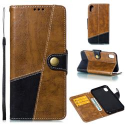 Retro Magnetic Stitching Wallet Flip Cover for iPhone Xr (6.1 inch) - Brown