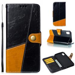 Retro Magnetic Stitching Wallet Flip Cover for iPhone Xr (6.1 inch) - Black