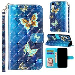 Rankine Butterfly 3D Leather Phone Holster Wallet Case for iPhone Xr (6.1 inch)