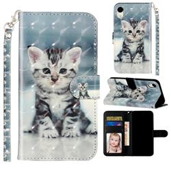 Kitten Cat 3D Leather Phone Holster Wallet Case for iPhone Xr (6.1 inch)