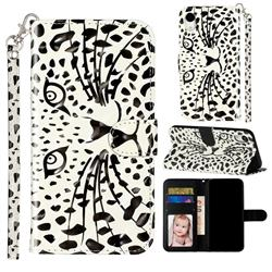 Leopard Panther 3D Leather Phone Holster Wallet Case for iPhone Xr (6.1 inch)
