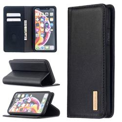 Binfen Color BF06 Luxury Classic Genuine Leather Detachable Magnet Holster Cover for iPhone Xr (6.1 inch) - Black