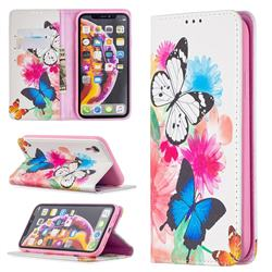 Flying Butterflies Slim Magnetic Attraction Wallet Flip Cover for iPhone Xr (6.1 inch)