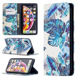 Blue Leaf Slim Magnetic Attraction Wallet Flip Cover for iPhone Xr (6.1 inch)