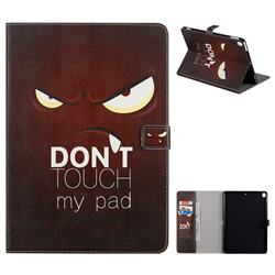 Angry Eyes Folio Flip Stand Leather Wallet Case for Apple iPad 10.2 (2019)