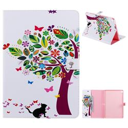 Cat and Tree Folio Flip Stand Leather Wallet Case for Apple iPad 10.2 (2019)