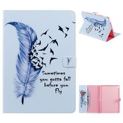 Feather Birds Folio Flip Stand Leather Wallet Case for Apple iPad 10.2 (2019)