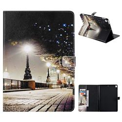City Night iew Folio Flip Stand Leather Wallet Case for Apple iPad 10.2 (2019)