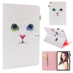White Cat Folio Stand Leather Wallet Case for Apple iPad Pro 11