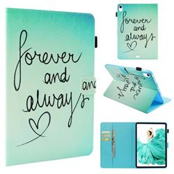 Love Forever Folio Stand Leather Wallet Case for Apple iPad Pro 11