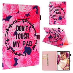 Retro Flowers Folio Stand Leather Wallet Case for Apple iPad Pro 11
