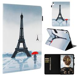 Rain Eiffel Tower Folio Stand Leather Wallet Case for Apple iPad Pro 11