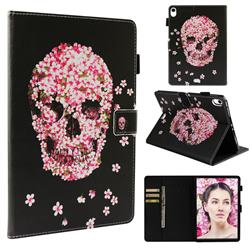 Petals Skulls Folio Stand Leather Wallet Case for Apple iPad Pro 11