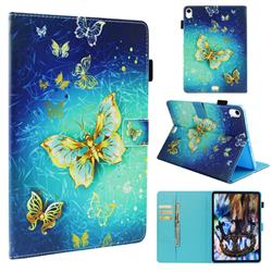 Gold Butterfly Folio Stand Leather Wallet Case for Apple iPad Pro 11