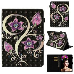 Peacock Flower 3D Painted Leather Wallet Tablet Case for Apple iPad Pro 11