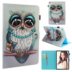 Sweet Gray Owl Folio Stand Leather Wallet Case for Apple iPad Pro 11
