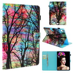 Color Tree Folio Stand Leather Wallet Case for Apple iPad Pro 11