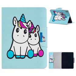 Couple Unicorn Folio Flip Stand Leather Wallet Case for Apple iPad Pro 11