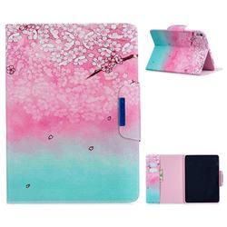 Gradient Flower Folio Flip Stand Leather Wallet Case for Apple iPad Pro 11