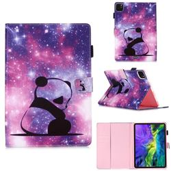 Panda Baby Matte Leather Wallet Tablet Case for Apple iPad Pro 11