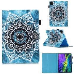 Underwater Mandala Flower Matte Leather Wallet Tablet Case for Apple iPad Pro 11