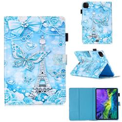 Tower Butterfly Matte Leather Wallet Tablet Case for Apple iPad Pro 11