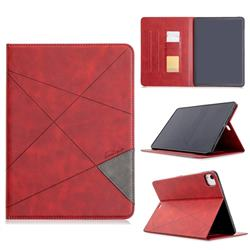 Binfen Color Prismatic Slim Magnetic Sucking Stitching Wallet Flip Cover for Apple iPad Pro 11(2018) - Red