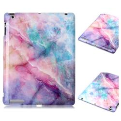 Dream Green Marble Clear Bumper Glossy Rubber Silicone Phone Case for iPad 4 the New iPad iPad2 iPad3