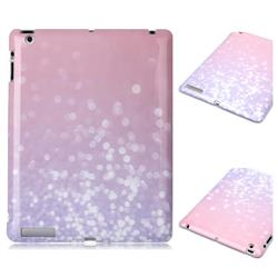 Glitter Pink Marble Clear Bumper Glossy Rubber Silicone Phone Case for iPad 4 the New iPad iPad2 iPad3