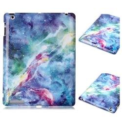 Blue Starry Sky Marble Clear Bumper Glossy Rubber Silicone Phone Case for iPad 4 the New iPad iPad2 iPad3