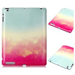 Sunset Glow Marble Clear Bumper Glossy Rubber Silicone Phone Case for iPad 4 the New iPad iPad2 iPad3