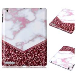 Stitching Rose Marble Clear Bumper Glossy Rubber Silicone Phone Case for iPad 4 the New iPad iPad2 iPad3