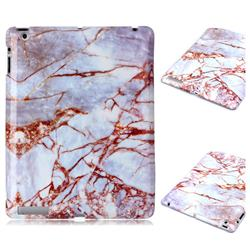 White Stone Marble Clear Bumper Glossy Rubber Silicone Phone Case for iPad 4 the New iPad iPad2 iPad3