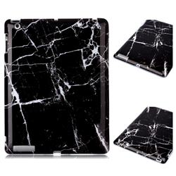 Black Stone Marble Clear Bumper Glossy Rubber Silicone Phone Case for iPad 4 the New iPad iPad2 iPad3