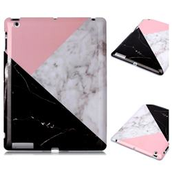 Tricolor Marble Clear Bumper Glossy Rubber Silicone Phone Case for iPad 4 the New iPad iPad2 iPad3