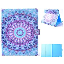 Mint Green Mandala Flower Folio Flip Stand Leather Wallet Case for iPad 4 the New iPad iPad2 iPad3