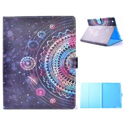 Universe Mandala Flower Folio Flip Stand Leather Wallet Case for iPad 4 the New iPad iPad2 iPad3