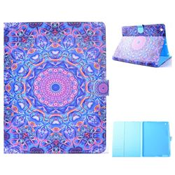 Purple Mandala Flower Folio Flip Stand Leather Wallet Case for iPad 4 the New iPad iPad2 iPad3